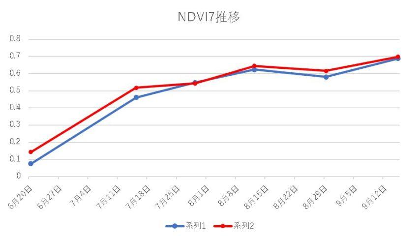 水稲圃場観測2017[NDVI7]