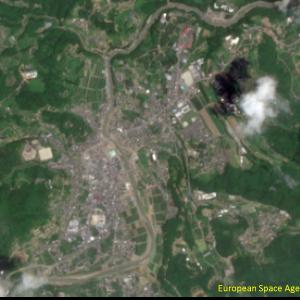 野村町野村付近Sentinel-2画像[撮影:7月13日/カラー:RGBコンポジット]
